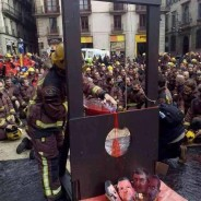 Protesta de los bomberos