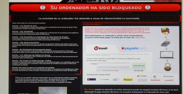 Eliminar o quitar el virus de la Polica (ACTUALIZADO)