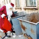 imagenes graciosas papa noel regalos basura