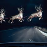imagenes graciosas papa noel renos volando